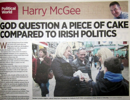Labour Euro candidate canvassing in Galway City